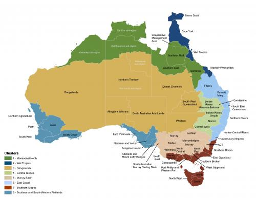 australia_cluster_and_nrm_-_colours_wth_labels_and_legend