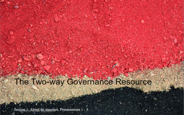 Two-way Learning Governance Learning Resource Development