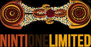 Ninti One logo featuring Kathleen Wallace art